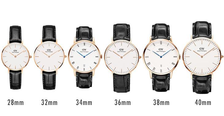 ダニエルウェリントンの時計サイズ